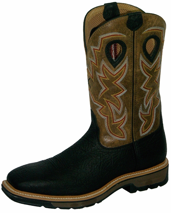 Twisted X Lite Weight Steel Safety Toe Black Cowboy Work Pull-On