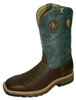 Twisted X Lite Weight Blue Cowboy Work Steel Toe Pull-On