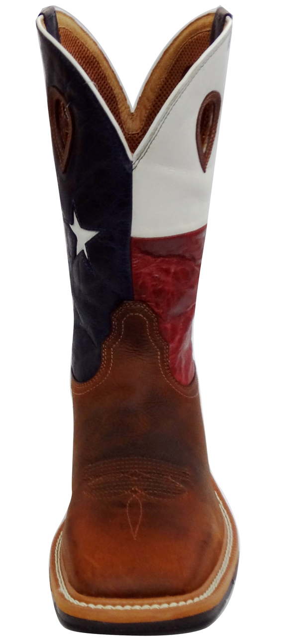 623f7acbba5 Twisted X Steel Toe Lite Weight Texas Flag Cowboy Work Pull-On