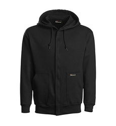 Workrite 14.25 oz. Fire Resistant Reliant Zip-Front Black Sweatshirt
