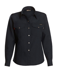 Workrite 4.5 oz. Nomex IIIA Womens Navy Western-Style Shirt