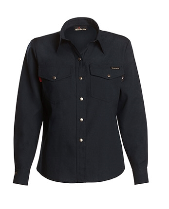 Workrite 4.5 oz. Nomex IIIA Women's Navy Western-Style Shirt