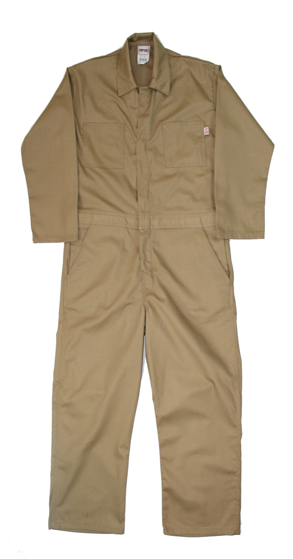 Men's Lapco 7 Ounce FR Khaki Economy Cotton Coverall