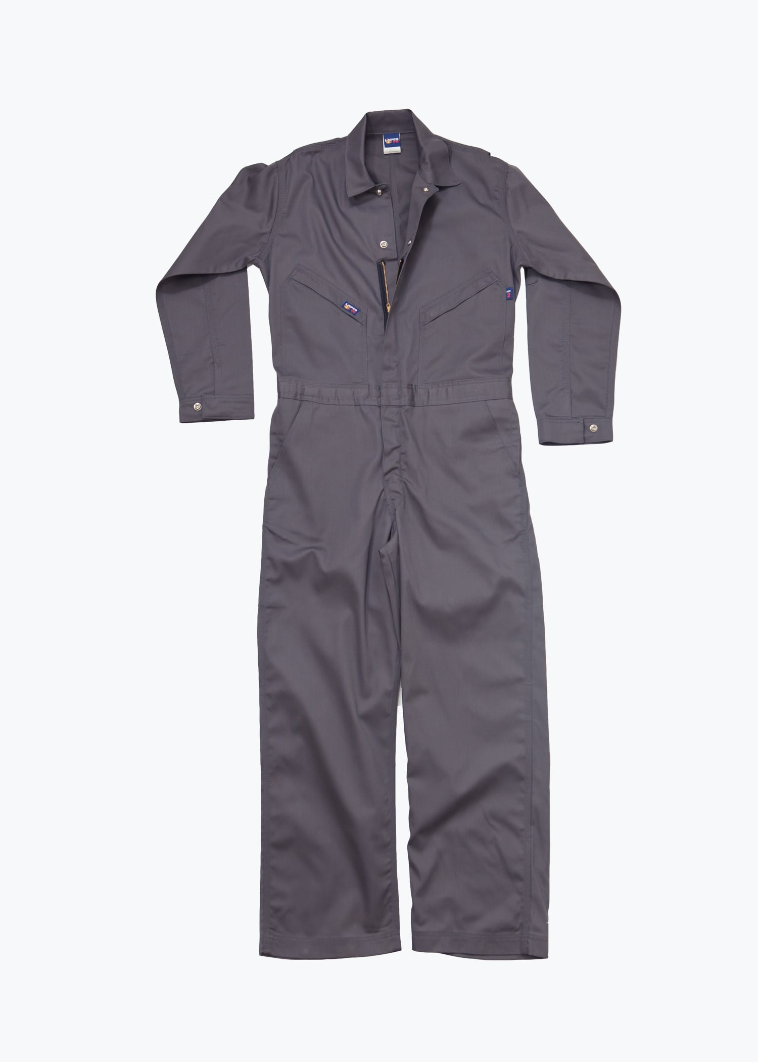 Lapco 7oz Flame Resistant Gray Deluxe Contractor Coverall