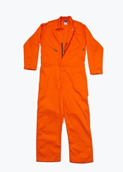 Lapco 7oz Flame Retardant Orange Deluxe Contractor Coverall