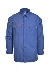 67f41f8880ce Lapco FR 4.5 oz GlenGuard Cool Blue Work Shirt With Snaps