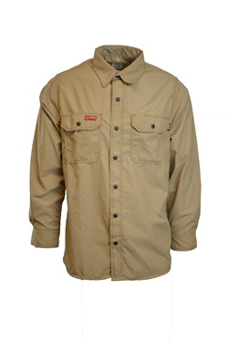 Lapco FR 4.5 oz GlenGuard Khaki Work Shirt With Snaps
