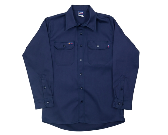 Lapco Flame Resistant 7 oz. Navy Uniform Shirt