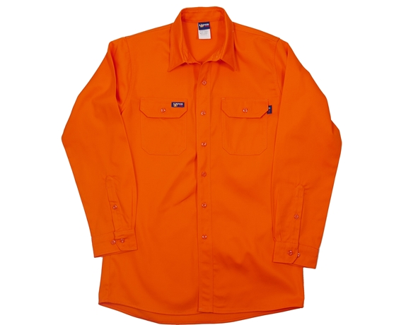 Lapco Flame Retardant 7 oz. Orange Uniform Shirt