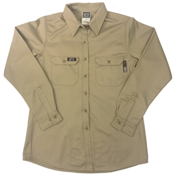 Lapco Women's FR Khaki Advanced Comfort Uniform Shirt