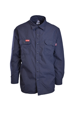 Lapco FR 4.5 oz GlenGuard Navy Work Shirt With Snaps