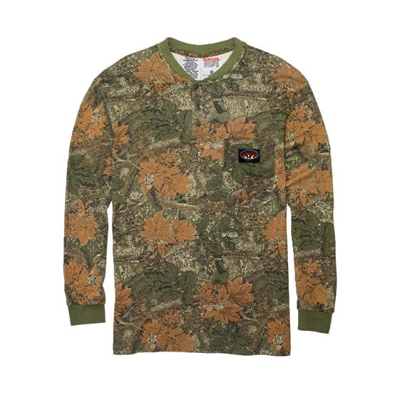 26c22069bd04 Rasco FR Men s Henley T-Shirt - Cajun Camo