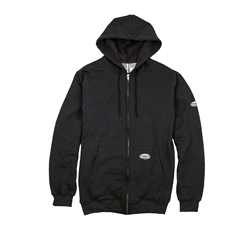 Rasco FR 10 Ounce Black Hooded Mens Sweatshirt