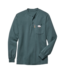 Rasco Flame Resistant Henley T-Shirt - Green GRF460