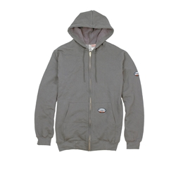 Rasco Flame Resistant 10 oz Gray Hooded Sweatshirt