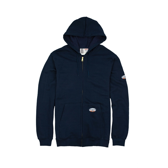 Rasco Flame Resistant 10 Ounce Navy Hooded Sweatshirt