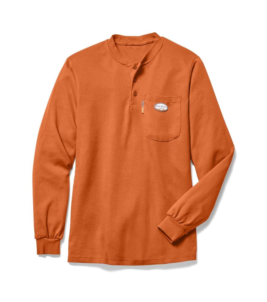 8f955fef48110 Men's FR Henley - Orange | Rasco | OF455