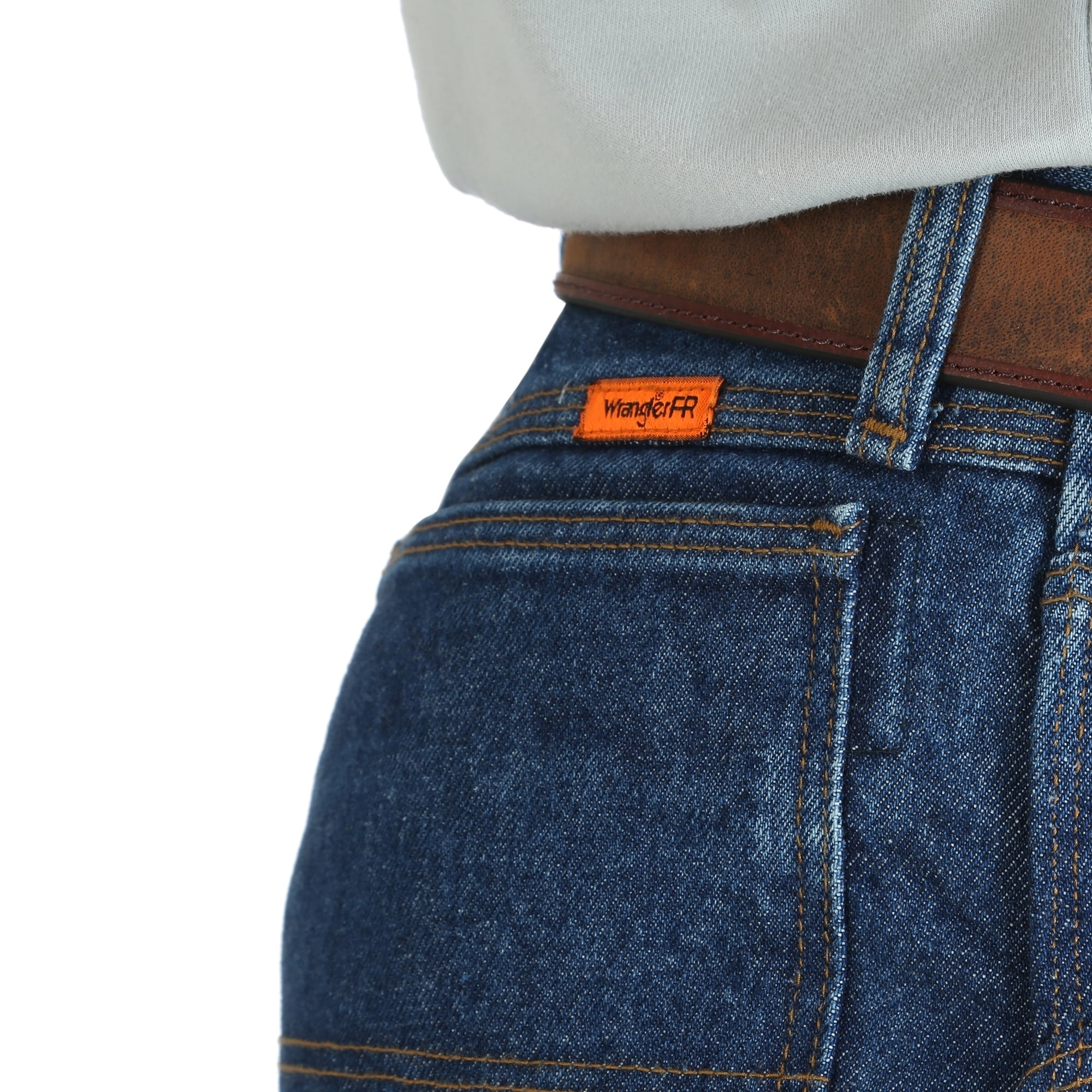 Wrangler FR 32 X 38 Prewash Denim Cotton Heavy Weight Flame Resistant Jeans With Zipper Front Closure