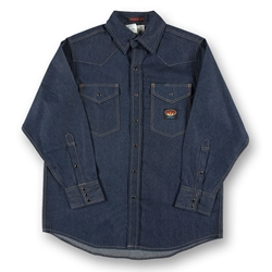 Rasco Mens Flame Resistant Lightweight Work Shirt - Denim
