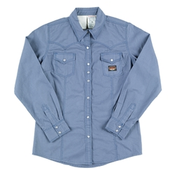 Rasco Womens Flame Resistant Blue Work Shirt